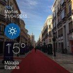 Buenos días #Malaga 15 grados en Calle Larios http://t.co/4CCdCsZ9v7