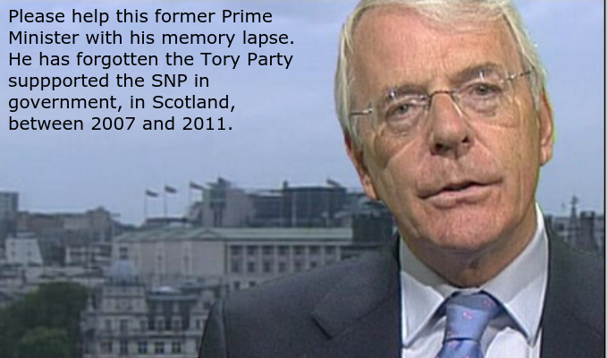 John Major needs your help with his memory. http://t.co/LybpNz8f8e
