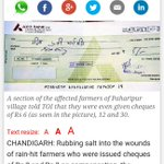 @mediacrooks @INCIndia @ndtv @TimesNow @NewsX this is what hooda govt was doing !! Rs 2 compensation. http://t.co/N4xuhVBLHb