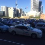 Drivers have also made their way by foot... Possibility they split a cab? #perthnews http://t.co/Q2XLZoe99H