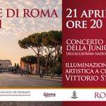 Buon Compleanno #Roma! Oggi festeggiamo così: http://t.co/Cq7wolk8z1 info e prenotazione allo @060608it #NatalediRoma http://t.co/zIzwbq66c8