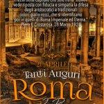 Tanti auguri alla più grande città del mondo... #Roma! #ASRoma http://t.co/HqOOIlMOf2