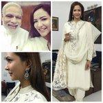 RT @shweta_malpani: @LakshmiManchu meeting our h'able PM @narendramodi sir in @varun_bahl12 , earrings #rose styled by @shweta_malpani