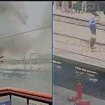 Delhi-Bhubaneswar & Sealdah Rajdhani Express catch fire at New Delhi Railway Station yard, fire tenders at the spot http://t.co/SoWkQ2IHHG