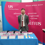 Joining us on campus for the #UCASconvention today? Be sure to say hello to Andrew and Sallie on the Sussex stand! http://t.co/WcaGQoLmDK