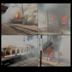 Bhubaneswar Rajdhani Express catches fire at New Delhi railway station;no casualties http://t.co/iWmIjyaUHN (Pic-ANI) http://t.co/irQJ3tCXR4