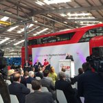 DUP launches its manifesto at Wrightbus in Antrim with a London bus as the backdrop. http://t.co/N7NQSovpy9