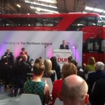 Peter Robinson launches DUP manifesto in Wright Bus plant with London Routemaster bus as backdrop http://t.co/PGEbXDqJEg