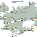 Here in #Iceland we have first day of summer on Thu. It´s a public holiday. Here is the weather outlook for that day: http://t.co/TJE9dTunCf