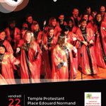 Retrouvez la chorale @Amazingospel au temple protestant de #Nantes le 22/05 à 20h30 ! :) http://t.co/vUIn4U1bMm