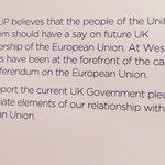 .@Duponline not fully endorsing EU referendum #ge2015 http://t.co/ggoHcYTZv7