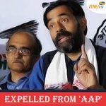 AAP expels Yogendra Yadav ,Prashant Bhushan for anti-party activities. http://t.co/1dJI5VEs7L #AAPBreakUp http://t.co/GKZdjvnUDw