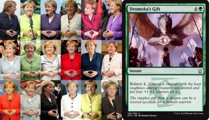 German MTG players: confirm/deny the theory that Angela Merkel is the human avatar of Dragonlord Dromoka? Thx Reddit! http://t.co/gc7G0LPIVp