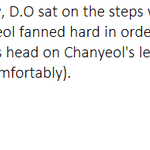 150418 EXO fanmeeting in Japan During the GROWL stage (standby), D.O sat on the steps while Chanyeol infront of him.. http://t.co/JpGUmohVHK