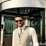 #sunshine in #Brighton. Dave our doorman in his #grandsunnies #meeting bookers pick up a pair http://t.co/c7SGHVr8Rr http://t.co/WXnojnCYKB