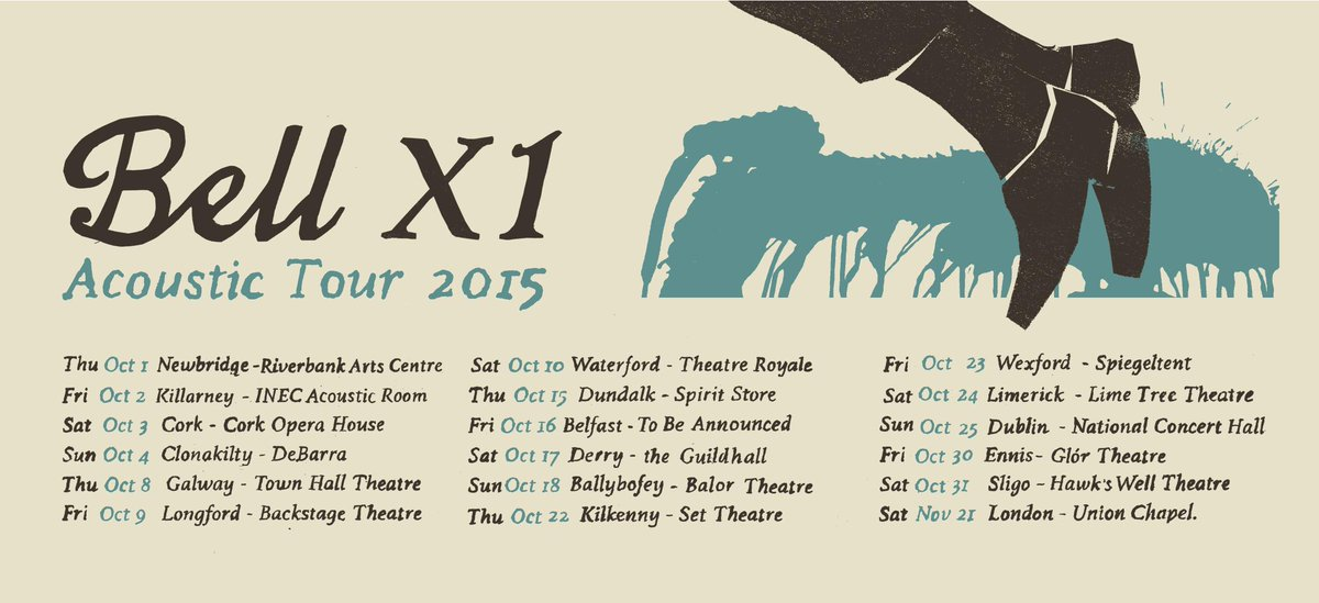 Pleased to announce @BellX1 Acoustic Tour 2015.  Tickets on sale Friday. http://t.co/KUxAPczzgI
