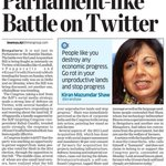 Farmers defended and @kiranshaw gets panned on twitter for calling them squatters on their own land. http://t.co/UdvK3WkVXi