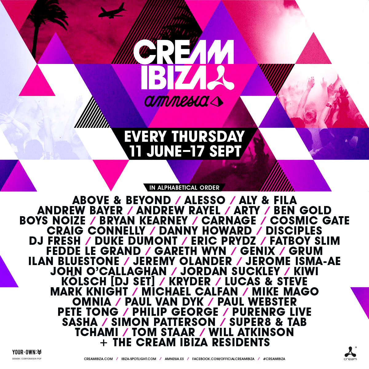#CreamIbiza15… every Thursday at @Amnesia_Ibiza! 11 June – 17 Sept  Full calendar & tickets: http://t.co/8DWlXShBmA http://t.co/g4aA5rI2gm