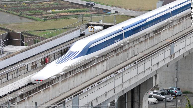 Japan's maglev train sets world record: 374 mph. http://t.co/UazWHFguwZ