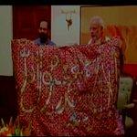 Delhi: PM hands over chadar that is to be offered at dargah of Khwaja Moinuddin Chishti, Ajmer Sharif (Source: PMO) http://t.co/fzdfkNC0VX