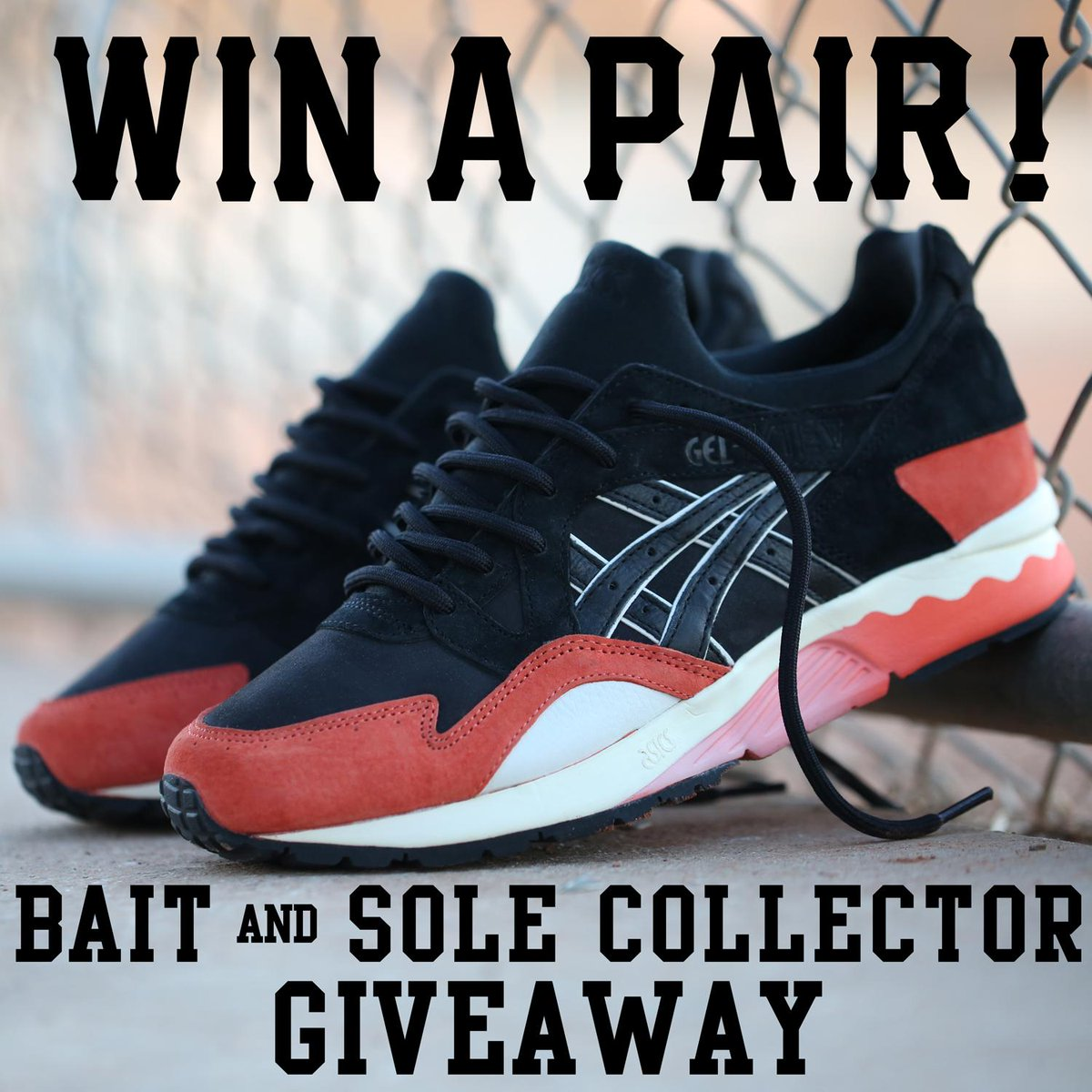 Want to win the new Bait x ASICS Gel Lyte V collab? Follow @SoleCollector and @BaitMeCom + RT this tweet to enter http://t.co/TvHOeue8Sg