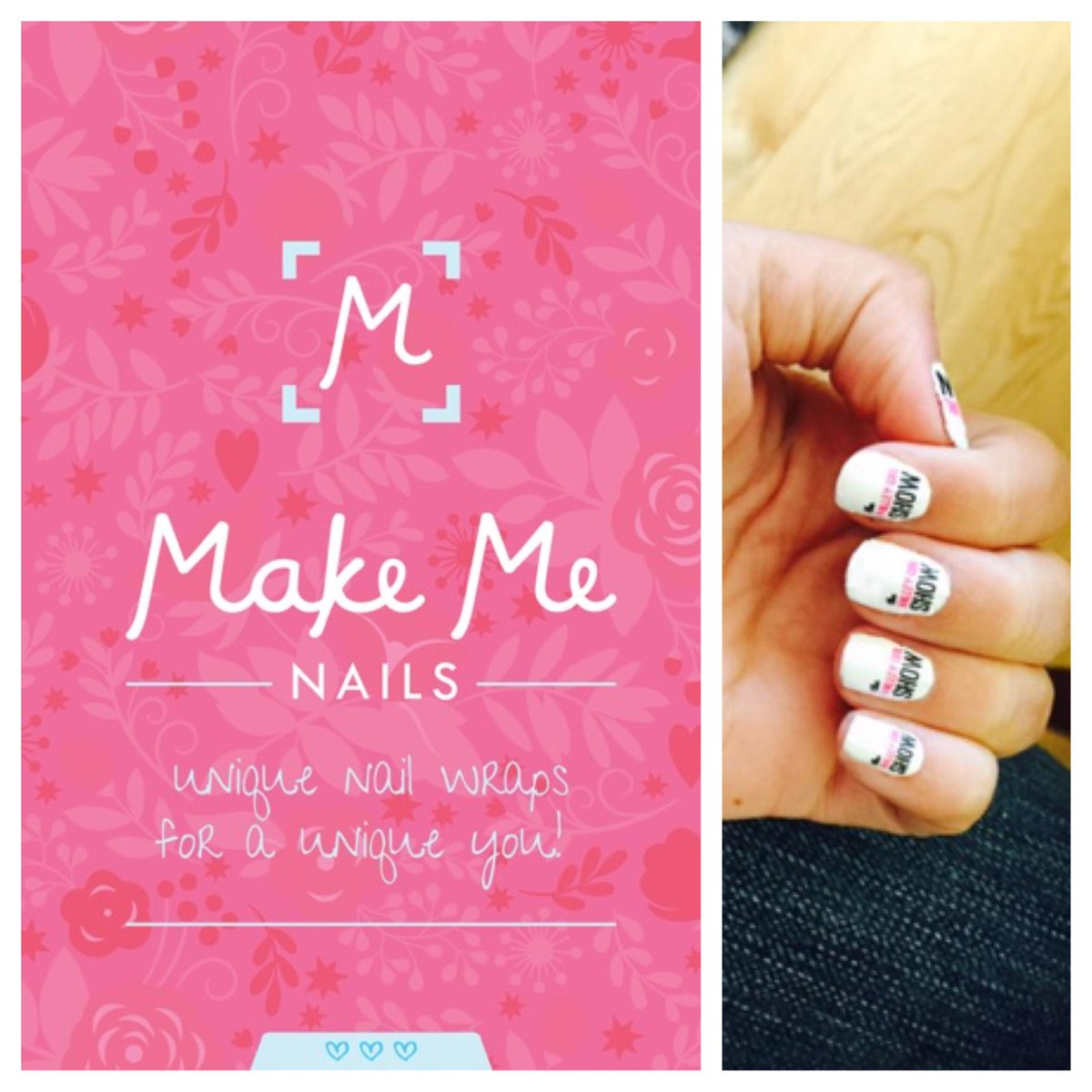 Check out our @MakeMeOfficial nail wraps, app launched 2 weeks ago & we're OBSESSED! #NeverTakingThemOff #TechTuesday http://t.co/3qn2aDbqOg