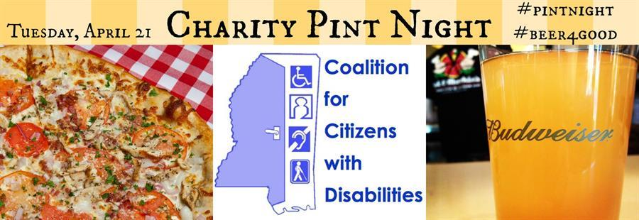 Charity Pint Night starts at 5! Make sure you come out! 10% goes to the Coalition for Citizens with Disabilities! http://t.co/lhIFd5a3iX