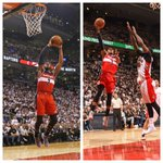 Playoff career-highs from Wall (17 asts) & Beal (28 pts) propelled @WashWizards to a 117-106 Game 2 W over @raptors.