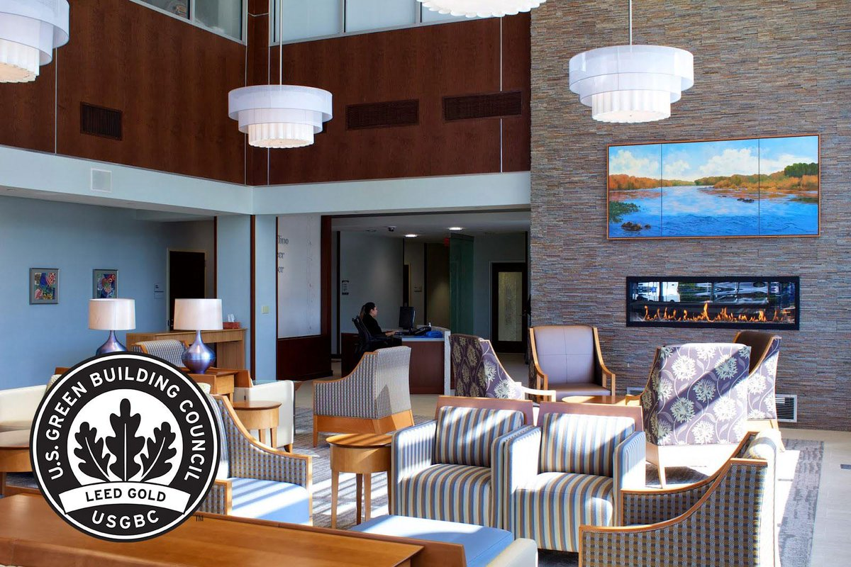 Our corporate office and cancer center were awarded #LEED Gold certification by the @usgbc #EarthDay http://t.co/Wo3058EIoD