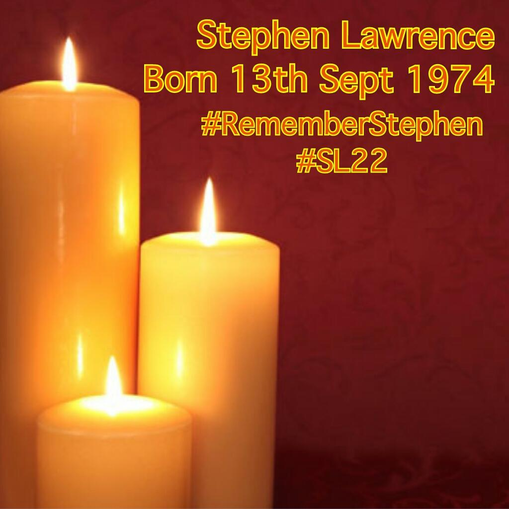On this day in 1993 #StephenLawrence https://t.co/U94THMJlsl #RememberStephen  #Architect #ArsenalFan #Athlete #SL22 http://t.co/iqKAgQtr5o