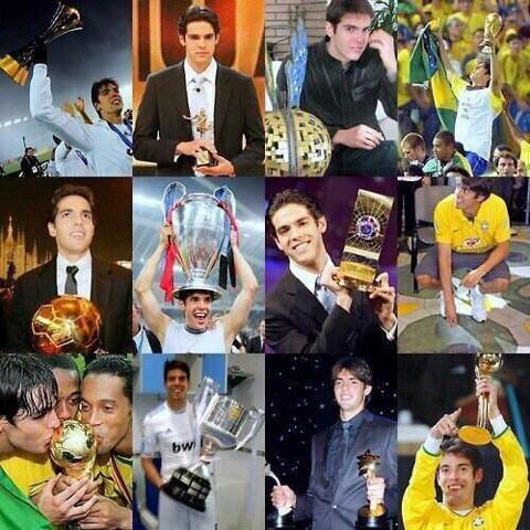 Happy 33rd birthday to Kaká. 1 x World Cup. 1 x Serie A. 1 x Champions League. 1 x La Liga