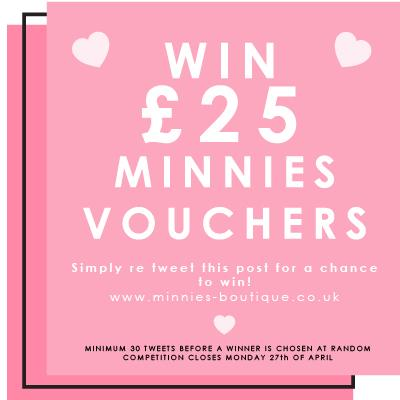 COMPETITION TIME! Re tweet this post for a chance to win £25 Minnies Vouchers! http://t.co/f2nPVhG0Wb