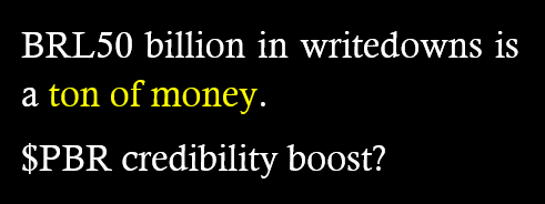 ".@pkwsj ""BRL50 billion in writedowns is a ton of money. $PBR credibility boost?"" #VemPraRua #VemPraRua17Maio http://t.co/RwMTPIZLaZ"