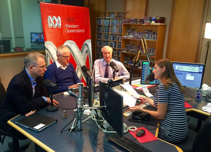 Speaking to ABC Western Queensland re satellite, mobile & rural comms with @TurnbullMalcolm & @BruceScottMP #commsau http://t.co/8E2eKQhKca