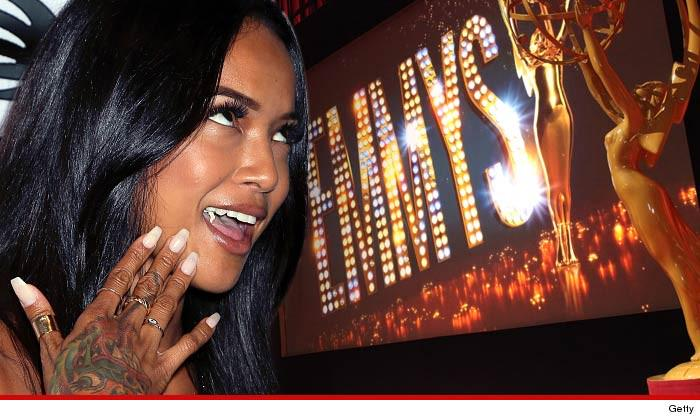 Karrueche Tran is THISCLOSE to an EMMY... who needs Chris Brown?