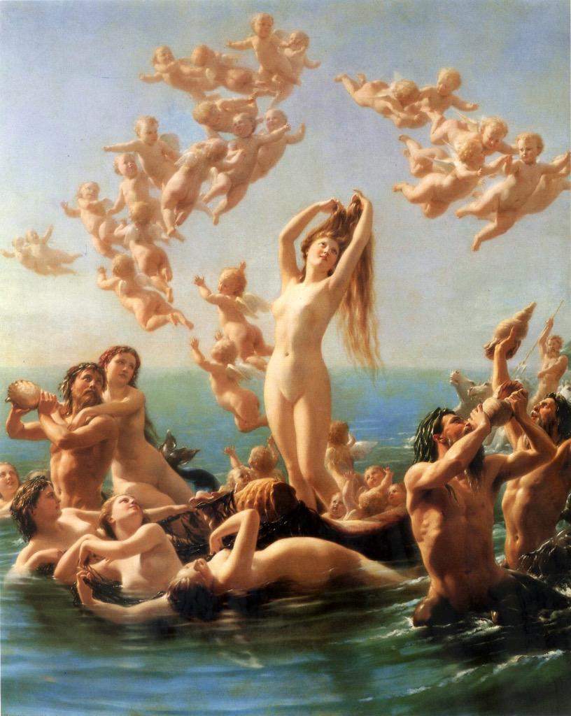 Unbelievable! RT @Biagio960: Birth of Venus (1867)  Fritz Zuber-Buhler  Porczyński Gallery in Warsaw  - - http://t.co/di3rbemZ7X""