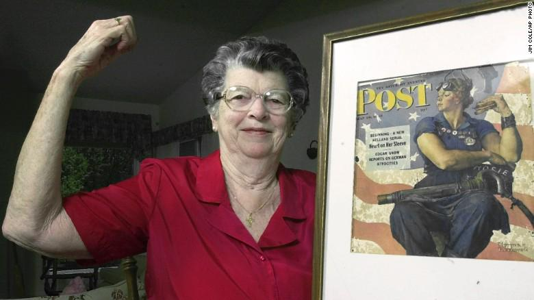 The model for Norman Rockwell's 'Rosie the Riveter' dies at 92. http://t.co/MBwMGfCW58