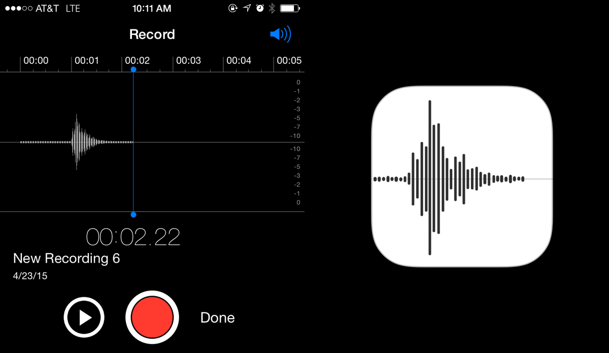 "If you record yourself saying ""Apple"", the waveform is the Voice Memos icon. http://t.co/oSvzE9UA1H"