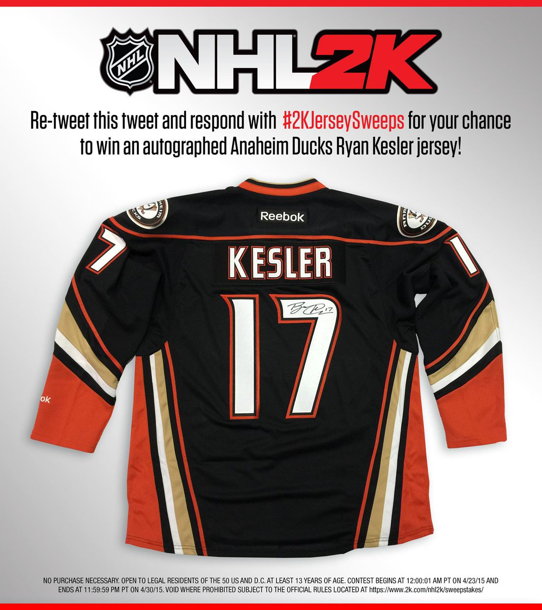 Random person who RTs next tweet could win a signed @Ryan_Kesler Anaheim Ducks jersey! Rules: https://t.co/EJAAPuKFwk http://t.co/8utJwnf6Ol