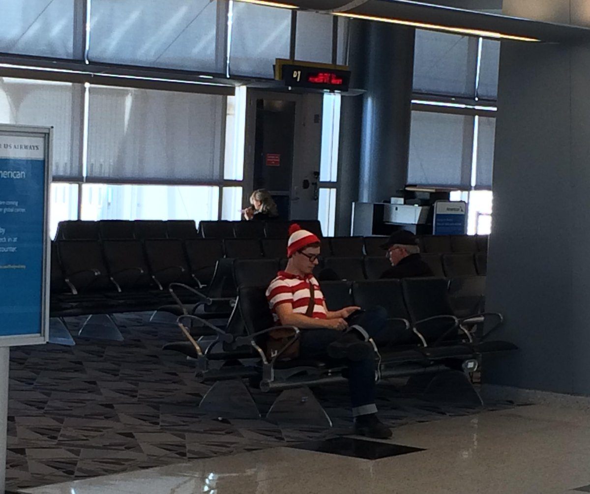 For those who are looking, it appears that he can be found at @LASairport... #whereswaldo http://t.co/rrGCYXh34a