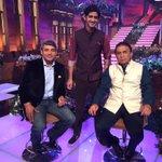 My brother Jaad and our favourite legend Mr Gavaskar. #IPL