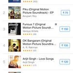 RT @aroyfloyd: Climbing up the all india album charts! @PikuTheFilm now #2! #iTunes @ShoojitSircar @shreyaghoshal @SunidhiChauhan5 http://t…
