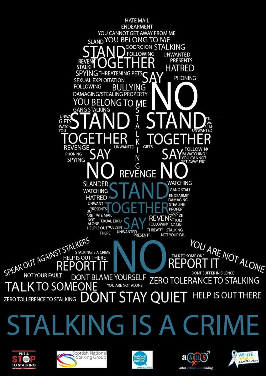 Great anti stalking poster from Ayrshire College http://t.co/wPhMV1Z8qD