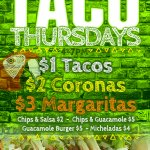 Dont Miss Taco Thursday Tonight from 4-7pm! $1 Tacos & More! @DowntownVentura @VisitVentura @VisitVCWest #ventura http://t.co/bgXGKUh77h