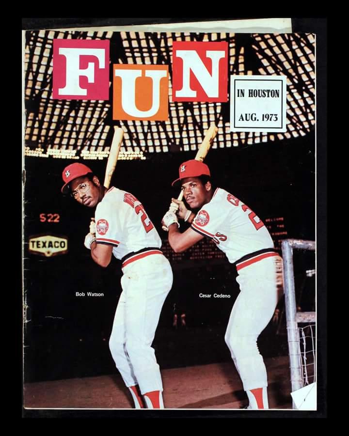Bob Watson and Cesar Cedeno Fun Magazine cover 1973 @brianmctaggart  @JeromeSolomon  @astros #SurviveToWin http://t.co/Yu35yBqaQF