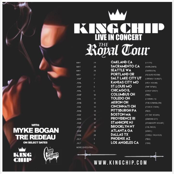 ANNOUNCEMENT: @iamTreRedeau & @mykebogan are going on #TheRoyalTour with @Chip216! Info at http://t.co/0vjOQF1bOX http://t.co/Zmw89AAsnV