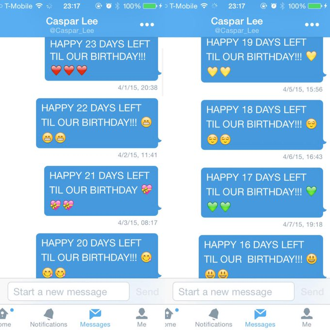 HAPPY OUR BIRTHDAY IVE BEEN DMING YOU AND WAITING ALL MONTH FOR THIS DAY TO COME I LOVE YOU SO MUCH!!