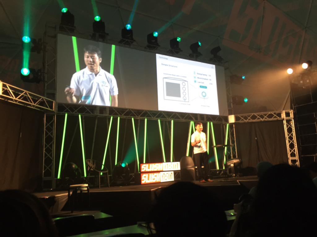 """Best pitch opening ever. """"2 yrs ago I had diarrhoea. I pooped my pants outside"""". Already love it. #dfree #SlushAsia http://t.co/zZvpbSgkMH"""
