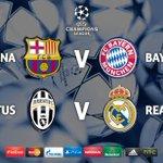 """Итак, вот они полуфинальные пары ЛЧ """"Барса"""" - """"Бавария"""" """"Ювентус"""" - """"Реал"""" По вашему, кто будет в финале? http://t.co/tKbTJYcmCV"""