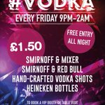 #VODKA Launches tonight. We are now open till 2am #PartyLonger #Hereford @DTONEDJ #Offers #Yates http://t.co/GMrA1Uvo5I